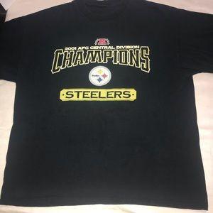 Vintage Pittsburgh Steelers Tee T-Shirt Men's 2001